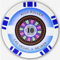 Pusula Oyun High Roller 10' Luk 25 Adet Poker Çipi (Las Vegas Nevada 11,5 Gr Clay Poker Fişi, Poker Chipi)