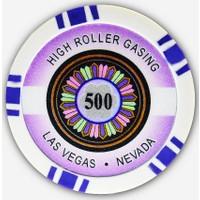 Pusula Oyun High Roller 500' Lük 25 Adet Poker Çipi (Las Vegas Nevada 11,5 Gr Clay Poker Fişi, Poker Chipi)