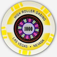 Pusula Oyun High Roller 1000' Lik 25 Adet Poker Çipi (Las Vegas Nevada 11,5 Gr Clay Poker Fişi, Poker Chipi)