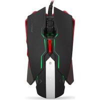 Everest Rampage Smx-R8 Usb Siyah 6D 7 Farklı Led Adınlatma Makrolu Oyuncu Mouse
