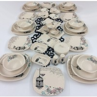 Keramika Retro 40 Parça 6 Kişilik Yemek Takımı
