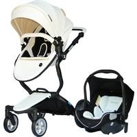 Yoyko Innovation Travel Sistem Bebek Arabası 3in1 Beyaz Deri