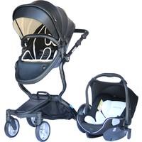 Yoyko Innovation Travel Sistem Bebek Arabası 3in1 Siyah Deri