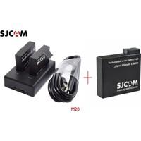 Sjcam M20 Batarya + M20 Çift Batarya Şarj Aleti Usb Tipi Ks1436