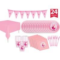 KullanAtMarket Its a Girl Parti Seti 24 Kişilik