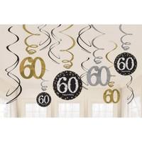 KullanAtMarket Işıltılı Doğumgünüm 60 Yaş Asma Süs