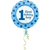 KullanAtMarket 1 Yaş Erkek Doğum Günü Folyo Balon 43cm
