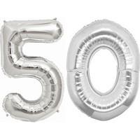 KullanAtMarket 50 Yas Gümüs Folyo Balon 90cm
