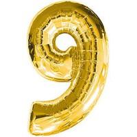 KullanAtMarket 9 Rakam Altın Folyo Balon 40cm