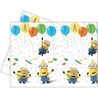 KullanAtMarket Minion Balon partisi Masa Örtüsü 120x180cm