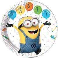 KullanAtMarket Minion Balon partisi Kağıt Tabak 23cm