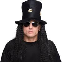 KullanAtMarket Halloween Drakula Saçlı Şapka Siyah
