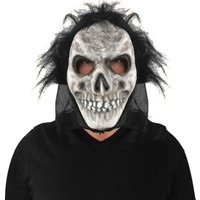 KullanAtMarket Halloween Saçlı Plastik İskelet Maske
