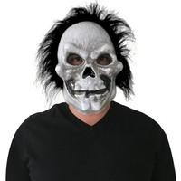 KullanAtMarket Halloween Saçlı Kurukafa Eva Maske