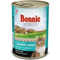 Bonnie Somonlu ve Alabalıklı Kedi Konservesi 400 Gr 12 ADET