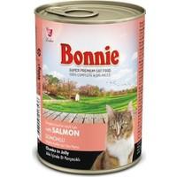Bonnie Jöle İçinde Parçacıklı Somonlu Kedi Konservesi 400 gr 12 ADET