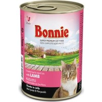 Bonnie Jöle İçinde Parçacıklı Kuzulu Kedi Konservesi 400 gr 12 ADET