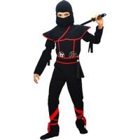 Hkostüm Gizli Ninja Çocuk Kostümü Siyah Lüks 5 - 6 Yaş