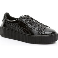 Puma Creeper Wrinkled Patent Kadın Siyah Sneaker 364465.01