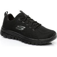 Skechers Graceful Women Siyah Sneaker 12615.Bbk