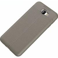 KNY Samsung Galaxy J7 Prıme Kılıf Deri Görünümlü Lux Niss Silikon+Kırılmaz Cam