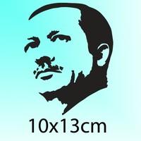 Cücüko Recep Tayyip Erdoğan Silüeti Oto Sticker