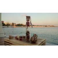 Cam Tüpler İçinde Medine Çayı ve Portakal Özü Çayı Özel Gün Hediyelikleri