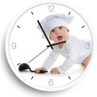 Rikonev Rikon Dekoratif Düz Cam Duvar Saati-Babychef