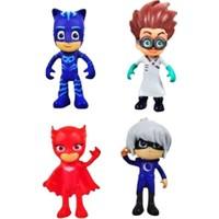 Pjmasks Toyspazar 4'Lü Set Pijamaskeliler Yumuşak Plastik Figür Oyuncakları 4 Karakter