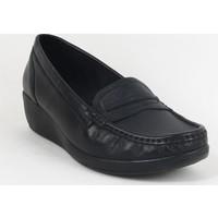 Comfort 82 Bayan Deri Günlük Ayakkabı Siyah
