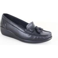 Comfort 884 Bayan Deri Fiyonklu Günlük Ayakkabı Siyah