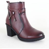 Siber 7085 Ayakkabı Bayan Bot Bordo