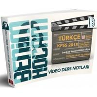 2018 Kpss Türkçe Video Ders Notları Benim Hocam Yayınları