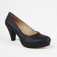 Treks Tecer 60 Bayan Cilt Topuklu Ayakkabı Siyah