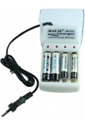 Digital Power Pil Şarj Ünitesi Jb-212 + 4 Adet Pil