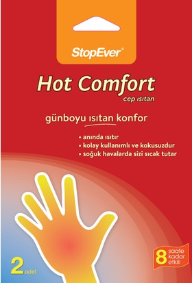 Stopever Hot Comfort Cep Isıtan 2'Li Paket