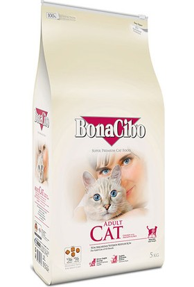 BonaCibo Tavuklu (Hamsi ve Pirinç eşliğinde) Yetişkin Kedi Maması 5kg