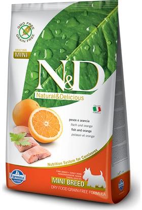 N&D Balık Portakal Tahılsız Yetişkin Mini Irk 2,5 Kg Köpek Maması