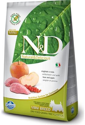 N&D Yaban Domuzu Ve Elmalı Tahılsız Küçük Irk Köpek Maması 2,5 Kg