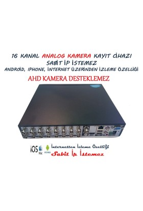 Q7 Tech 16 Kanal Dvr Kamera Kayıt Cihazı Analog (Sabit IP İstemez)