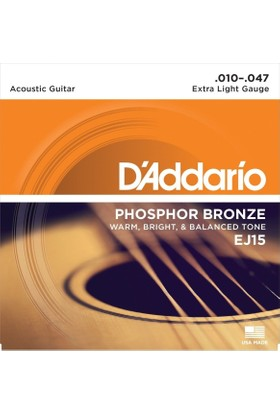 Daddarıo Ej15 Akustik Tel Set Extra Light (.010)