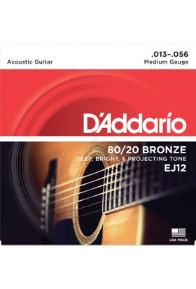 Daddarıo Ej12 Akustik Tel Set Medium ( 0.13 )