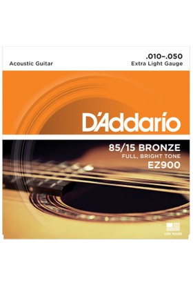 Daddarıo Ez900 Akustik Tel Set Extra Light (.010) Ez900