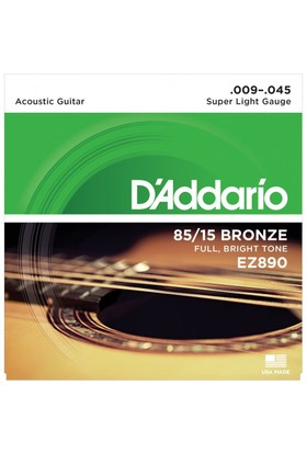Daddarıo Ez890 Akustik Tel Set Super Light (.009) Z890