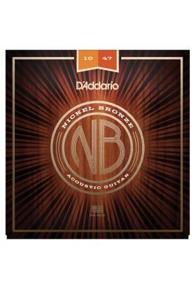 Daddarıo Nb1047 Akustik Gitar Teli Nikel Bronz 010 - 014 - W023 - 030 - 039 - 047, Extra Light