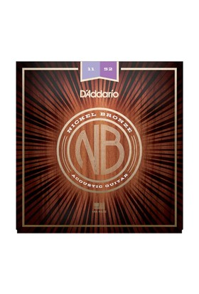 Daddarıo Nb1152 Akustik Gitar Teli 011-052 Nickel Bronze Custom Light 11-15-22-32-42-52