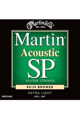 Martin Msp3000 10-47 Akustik Gitar Teli Life Span Sp