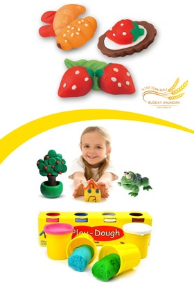 Helen's 4 Renkli Oyun Hamuru (Küçük Boy)