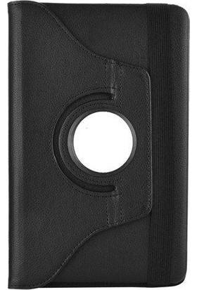 Samsung Galaxy Tab 3 Lite T113 360 Dönebilen Siyah Stand Kılıf