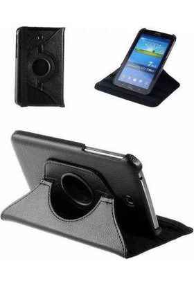 Samsung Galaxy Tab E T560 360 Dönebilen Siyah Stand Kılıf